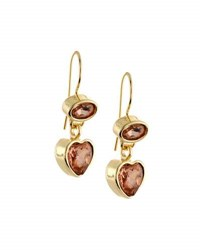 Emily And Ashley Crystal Heart Dangle Earrings Blush