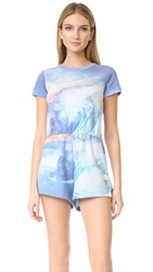 Wildfox Couture Blue Crush Romper Multi