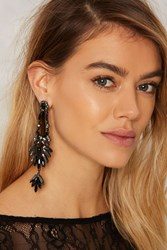 Shake It Up Rhinestone Earrings Black