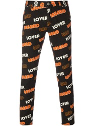 House Of Holland Printed Trousers Yellow And Orange