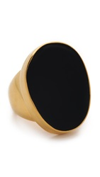 Kenneth Jay Lane Oversized Ring Black