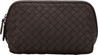 Bottega Veneta Intrecciato Medium Cosmetic Case Brown