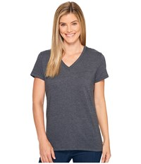Carhartt Lockhart Short Sleeve V Neck T Shirt Carbon Heather Women's T Shirt Gray