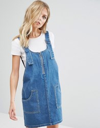 Noisy May Denim Dungaree Dress Medium Blue Denim