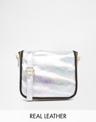 Urbancode Holographic Effect Leather Mini Cross Body Bag