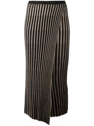 Helmut Lang Knitted Pleated Skirt Black