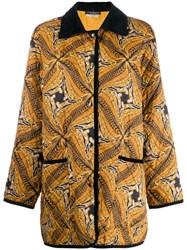 Salvatore Ferragamo Vintage 1980'S Abstract Print Coat Brown