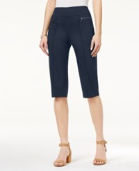 Style And Co Co. Pull On Capri Pants Only At Macy's Industrial Blue