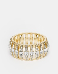 Lipsy Stretch Crystal Cuff Gold