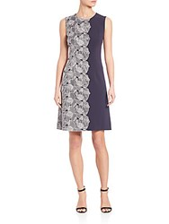 Boss Dephina Embroidered Dress Blue