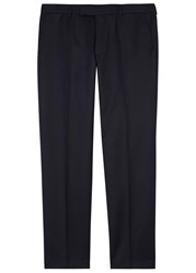 Oscar Jacobson Adam Navy Slim Leg Wool Trousers