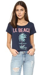 Sol Angeles Le Beach Tee Indigo
