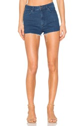 Free People High And Tight Cut Off Shorts Blue