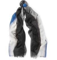 Berluti Sunset Cashmere And Silk Blend Scarf Blue