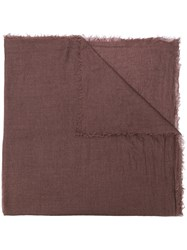 Rick Owens Cashmere Scarf Brown