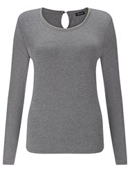 Gerry Weber Beaded Jersey Top Stone Melange