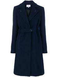 Carven Single Breasted Coat Blue