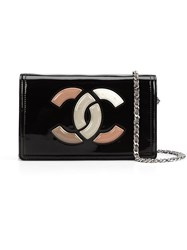 Chanel Vintage Lipstick Cc Wallet On Chain Black