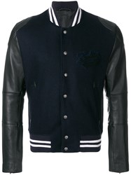 Zadig And Voltaire Leddy Teddy Bomber Jacket Blue
