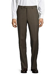 Jack Victor Checked Wool Trousers Brown