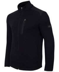 Greg Norman For Tasso Elba Men's Big And Tall Fleece Jacket Only At Macy's Deep Black