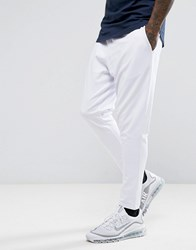 Asos Tapered Cropped Jogger In Poly Tricot White