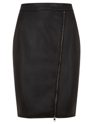 Mint Velvet Pu Pencil Skirt Black