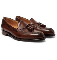 Cheaney Harry Ii Burnished Leather Tasselled Loafers Brown