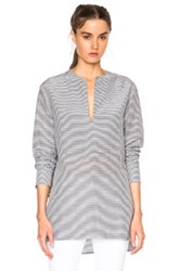 Jenni Kayne Collarless Bib Top In Black Stripes