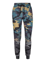 Multi Hype's Camouflage Panelled Joggers