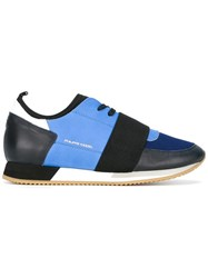 Philippe Model Panelled Sneakers Blue
