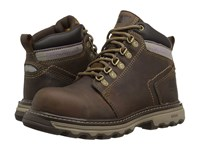 Caterpillar Ellie Steel Toe Dark Beige Women's Work Lace Up Boots Brown
