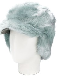 Urbancode Textured Furry Hat Green