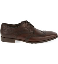 Corneliani Recanati Wingcap Derby Shoes Tan