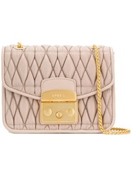 Furla Metropolis Cometa Quilted Cross Body Bag Pink