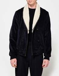 Editions M.R. Shawl Collar Jacket Navy