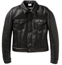 Vetements Schott Cropped Shearling Biker Jacket Black