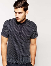 Jack And Jones Jack And Jones Polka Dot Jacquard Polo Shirt Pirateblack