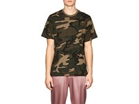 Ovadia And Sons Camouflage Cotton T Shirt Olive Pat.