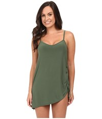 Magicsuit Solid Brynn One Piece Swimdress Olive Women's Dress