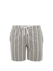 Onia Charles Striped Swim Shorts Grey Multi
