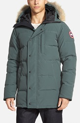 Canada Goose 'Carson' Hooded Parka With Genuine Coyote Fur Trim Slate