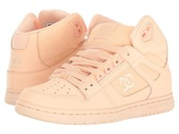 Dc Rebound Hi W Peach Cream Women's Skate Shoes Pink