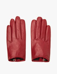 Leather Glove In Red