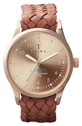 Men's Triwa 'Lansen' Braided Leather Strap Watch 38Mm