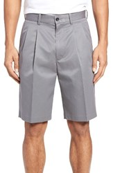 Nordstrom Men's Big And Tall Men's Shop Pleated Supima Cotton Shorts Grey Shade