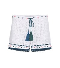 Talitha Eyelet Cotton Shorts White