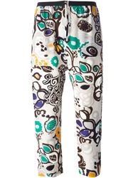 Erika Cavallini Semi Couture Printed Cropped Trousers