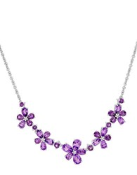 Lord And Taylor Diamond Sterling Silver Amethyst Necklace Purple