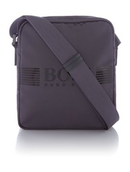 Hugo Boss Pixel Logo Crossbody Bag Grey